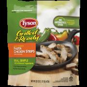 Tyson® Grilled & Ready® Fully Cooked Fajita Chicken Strips, 22 oz. (Frozen)
