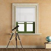 Mainstays 1 inch Cordless Light Filtering White Vinyl Window Blinds-23x42