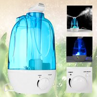 4L Adjustable LED Ultrasonic Air Humidifier Purifier Steam Aroma Diffuser Mist