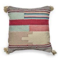 MoDRN 22in. Textured Outdoor Throw Pillow - Pink Tonal