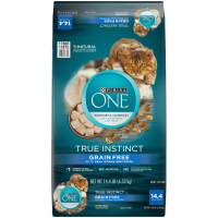 Purina One True Instinct High Protein with Ocean Whitefish Grain-Free Dry Cat Food (Various Sizes)