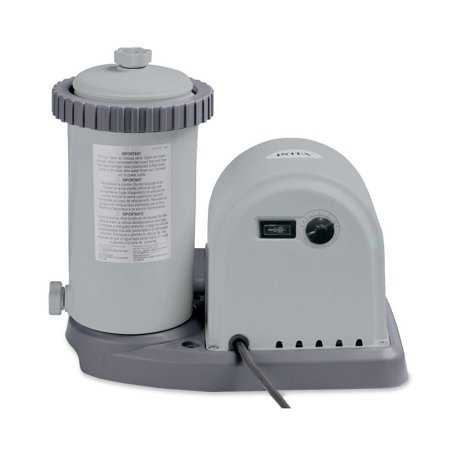 Intex 1500 GPH Easy Set Pool Filter Cartridge Pump with Timer & GFCI |