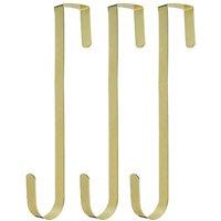 """Hangorize Over the Door Hanger (Set of 3), Gold - Christmas Wreath Hanger - 12"""""""