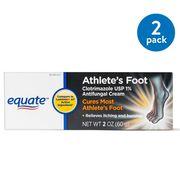 (2 Pack) Equate Athletes Foot Antifungal Cream, 2 Oz