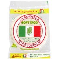 "La Banderita Flour 8"" Soft Taco Tortillas, 10 ct"