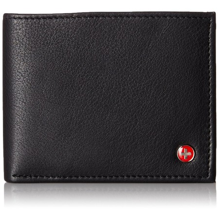 Alpine Swiss Mens Wallet Real Leather Bifold Trifold Hybrid Foldout ID Card - Trifold Wallets