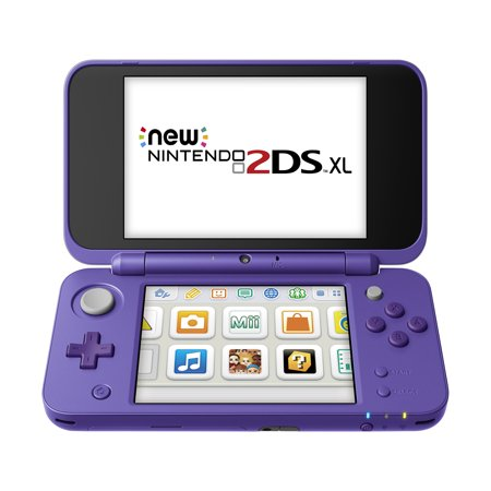 New Nintendo 2DS XL System w/ Mario Kart 7 Pre-installed, Purple & Silver, JANSVBDB
