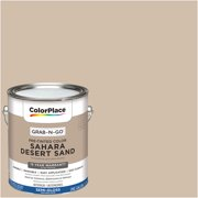 ColorPlace Pre Mixed Ready To Use, Interior Paint, Sahara Desert Sand, Semi-Gloss Finish, 1 Gallon