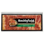 Smithfield Naturally Applewood Smoked Bacon, Thick Cut, Ready to Cook, Made with Sea Salt, 24 oz.