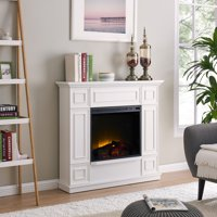 Bold Flame 43.31 inch Electric Fireplace Heater in White