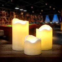 Product Image 3PCS Set LED Flameless Candles Battery Operated Smokeless For Wedding Party Decorations Warm White