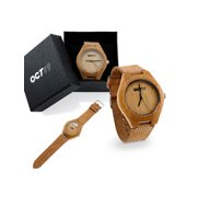 Luxury Men's Walnut Wood Fashion Bamboo Wooden Watch Quartz Genuine Leather Japanese Quartz Movement Casual Wristwatches