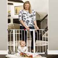 "Regalo Extra Wide 38.5"" Easy Step Walk Thru Baby Gate, 4 Pack Pressure Mount Kit and 4 Pack Wall Mount"