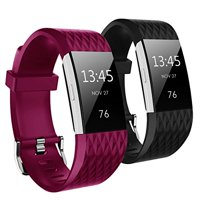 Kutop Band for Fitbit Charge 2 , Diamond-shaped texture Soft Silicone Replacement Sport Strap Band for Fitbit Charge2 Fitness Wristband for Girls Boy Men Women