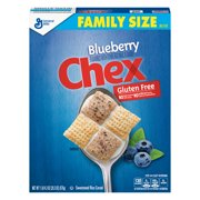 (2 Pack) Blueberry Chex Family Size Breakfast Cereal, 20.3 oz Box