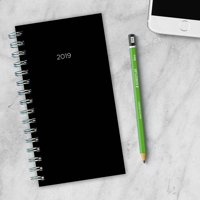 "2019 Classic Black 4"" x 6.5"" Janaury 2019-December 2019 Small Weekly Monthly Planner"