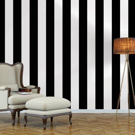 Repeel Removable Peel and Stick Wallpaper, Stripe, Black & -