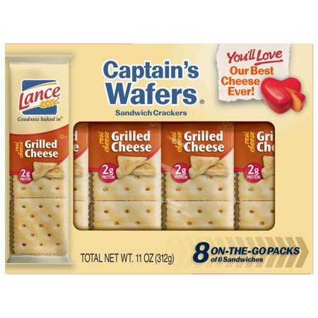 Lance Captain's Wafers Grilled Cheese Sandwich Crackers, 1.38 Oz., 8 (Best Grilled Cheese Sandwich)