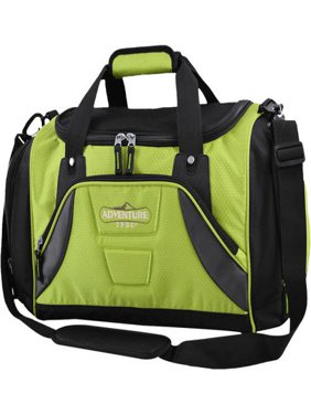 """Travelers Club 20"""" Sport Duffel with Shoe Pocket - Green with Black"""