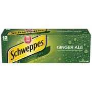 Schweppes Ginger Ale, 12 fl oz, 12 pack