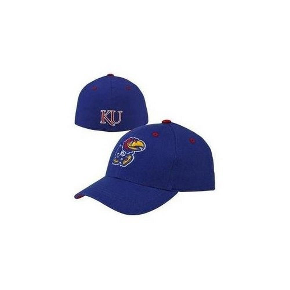 new product 1e498 d2d2d ... reduced ncaa licensed kansas jayhawks blue fitted 7 1 8 dynasty  baseball hat cap 5b4c7 85eff