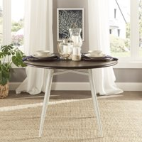 """Weston Home Jameson 42"""" Round Two-tone Dining Table, Multiple Colors"""