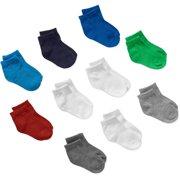 Baby Toddler Boy Ankle Socks - 10 Pack