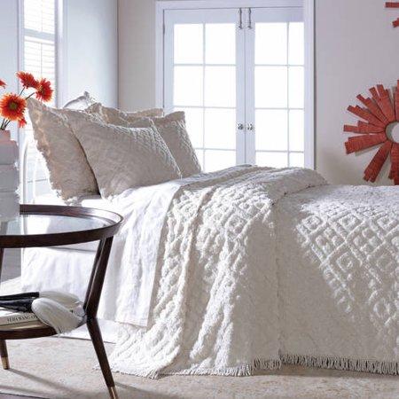 Diamond Tufted Chenille Bedspread (Diamond Chenille)