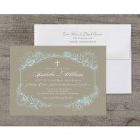 Rustic Garden Deluxe Wedding Invitation