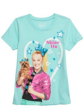JoJo and Bow Bow Glitter Graphic T-Shirt (Little Girls & Big Girls)