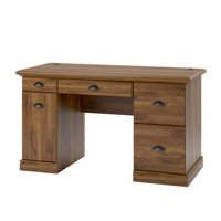 Better Homes and Gardens Computer Desk with Filing Drawers, Brown Oak