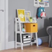 RiverRidge 3-Tier Ladder Shelf for Kids - White