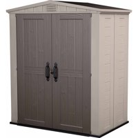 Keter Factor 6' x 3' Resin Storage Shed, Beige/Taupe