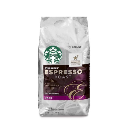 Starbucks Espresso Roast Dark Roast Ground Coffee, 12-Ounce