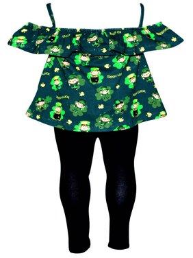 Girls ST Patrick's Day Leprechaun Sleeveless Tank Outfit (8)