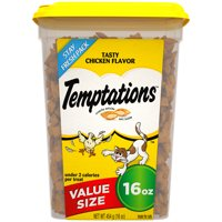 TEMPTATIONS Classic Treats for Cats Tasty Chicken Flavor, 16 oz. Tub