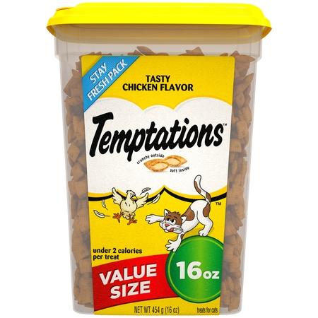 TEMPTATIONS Classic Treats for Cats Tasty Chicken Flavor, 16 oz. Tub](Tasty Treats For Halloween)