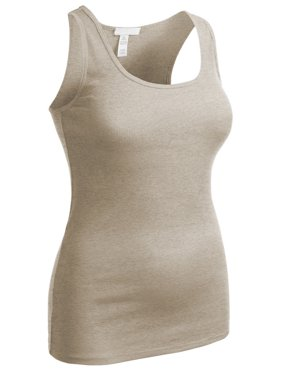 Essential Basic Women's Active Racerback Ribbed Tank Top Shirt - Junior and Plus Sizes
