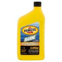 (3 Pack) Pennzoil Marine TC-W3 Premium Plus OB 2-Cycle Motor Oil, 1-quart bottle