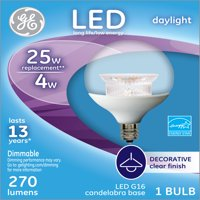 GE LED 4W (25W EQUIVALENT) SMALL BASE DAYLIGHT GLOBE