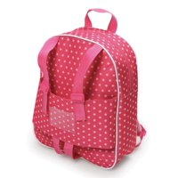 "Badger Basket Doll Travel Backpack - Pink/Star - Fits American Girl, My Life As & Most 18"" Dolls"