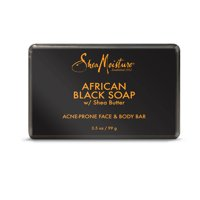 (2 pack) African Black Soap - Soothes and Refreshes Blemish-Prone Skin with Aloe and Organic Shea Butter - Sulfate-Free with Natural and Organic Ingredients - Clarifies Blemish-Prone Skin (3.5 oz)