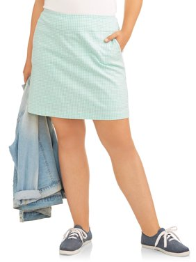 Women's Plus Stretch Woven Skort