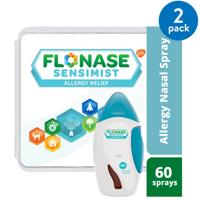 Flonase Sensimist 24hr Allergy Relief Nasal Spray, Gentle Mist, Scent-Free, 60 sprays