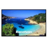 Excelvan Indoor Outdoor Portable Movie Screen 100 Inch 16:9 Home Cinema Projector Screen Roll Easily, PVC Fabric