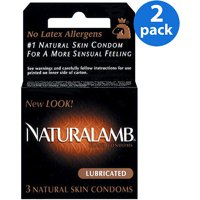 Trojan Naturalamb Luxury Lubricated Latex Condoms - 3 ct