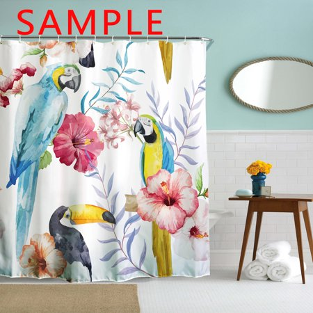 GCKG Pink Purple Butterfly Shining Light Under Blue Sky Waterproof Polyester Shower Curtain and Hooks Size 66x72 inches - image 1 of 4