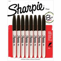 Sharpie Fine Point Permanent Marker, Black, 8ct