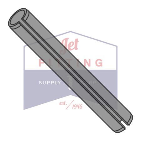 M3 x 34mm Roll (Spring) Pins | Slotted Type | Metric ISO 8752 | Carbon Steel | Thermal Black Oxide (Quantity: (Metric Spring Pins)