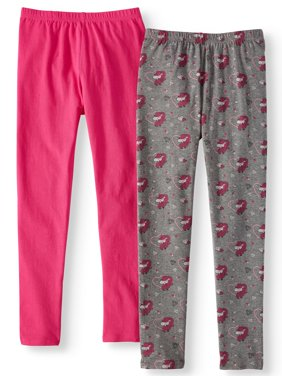 Unicorn Print and Solid Leggings, 2-Pack (Little Girls & Big Girls)